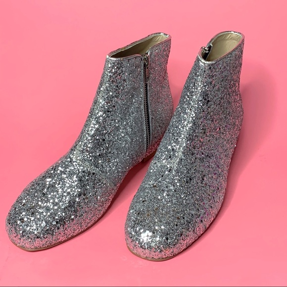 ASOS Shoes - Silver Glitter Ankle Boots
